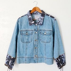 Vintage Snakeskin Denim Jacket